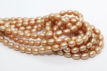 Rice Freshwater Pearls - Peach