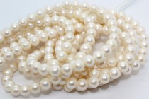 Almost Round Freshwater Pearls, Cream, A Grade,8mm