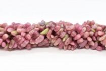 Pink Tourmaline (Natural) Flat Nugget Gemstone Beads