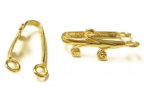 Gold Plated Donut Bail with Swirls - JBB Findings
