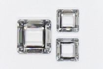 Crystal CAL V Sl Swarovski Crystal Square Fancy Stone Pendant 4439