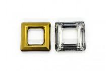 Crystal Dorado Swarovski Crystal Square Fancy Stone Pendant 4439