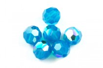 Caribbean Blue Opal AB 5000 Swarovski Crystal Round Beads - Factory Pack Quantity