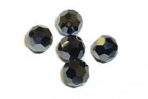 Jet Hematite AB 2X 5000 Swarovski Crystal Round Beads - Factory Pack Quantity