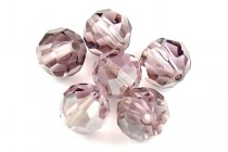 Light Amethyst Satin 5000 Swarovski Crystal Round Beads - Factory Pack Quantity