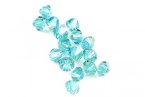 Aquamarine Champagne 5301/5328 Swarovski &reg: Crystal with third-party coating,Bicone Bead