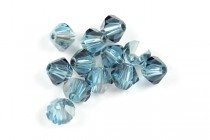 Aquamarine Satin 5301/5328 Swarovski Crystal Bicone Beads - Factory Pack Quantity
