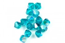 Blue Zircon AB 5301/5328 Swarovski Crystal Bicone Beads - Factory Pack Quantity