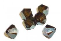 Crystal Bronze Shade AB2x Swarovski Crystal Bicone Beads 5301/5328
