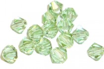 Chrysolite Champagne 5301 Swarovski &reg: Crystal with third-party coating,Bicone Bead