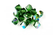 Green Turmaline AB 5301/5328 Swarovski Crystal Bicone Beads - Factory Pack Quantity