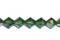 Green Turmaline Satin 5301/5328 Swarovski Crystal Bicone Beads - Factory Pack Quantity