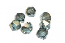 Indian Sapphire Satin 5301/5328 Swarovski Crystal Bicone Beads - Factory Pack Quantity