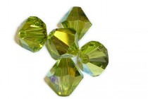 Olivine AB 5301/5328 Swarovski Crystal Bicone Beads - Factory Pack Quantity