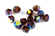 Mocca AB 5301/5328 Swarovski Crystal Bicone Beads - Factory Pack Quantity