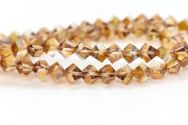 Bead, Swarovski® crystals, Crystal Copper , faceted simplicity (5310).