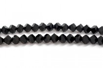 Bead, Swarovski® crystals, Jet , faceted simplicity (5310).