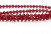 Bead, Swarovski® crystals, Siam , faceted simplicity (5310).