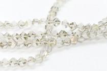 Bead, Swarovski® crystals, Crystal Silver Shade , faceted simplicity (5310).
