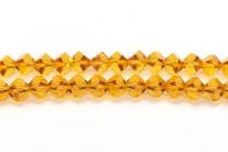 Bead, Swarovski® crystals, Topaz , faceted simplicity (5310).