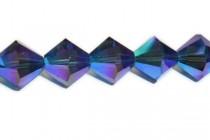 Dark Sapphire AB 2X 5301/5328 Swarovski Crystal Bicone Beads - Factory Pack Quantity