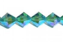 Indicolite AB 2X 5301/5328 Swarovski Crystal Bicone Beads - Factory Pack Quantity