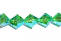 Light Emerald AB 2X 5301/5328 Swarovski Crystal Bicone Beads Factory Quantity Pack