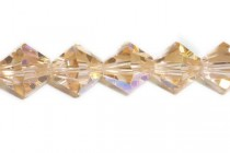 Light Peach AB 5301/5328 Swarovski Crystal Bicone Beads - Factory Pack Quantity