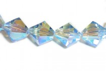 Light Sapphire AB 2X 5301/5328 Swarovski Crystal Bicone Beads - Factory Pack Quantity