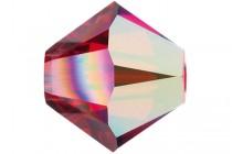 Light Siam Satin AB 2x 5301/5328 Swarovski Elements Crystal Bicone Bead