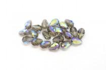 Black Diamond AB Swarovski Crystal Faceted Teardrop Beads 5500