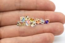 Crystal AB 5600 Swarovski Elements Crystal Dice Bead