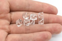 Crystal Clear Swarovski Crystal Dice Beads 5600