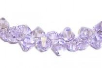 Violet Champagne Swarovski Crystal Top Drilled Bicone Pendants 6301