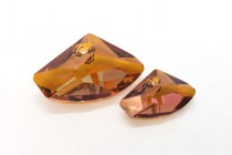 Crystal Copper Swarovski Crystal Galactic Horizontal Pendant 6657
