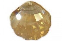 Crystal Golden Shadow, Drop, Swarovski crystals, 28x28mm Faceted Crystal Shell Pendant (6723).