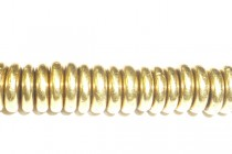 Gold Plated Brass Rondell-4mm