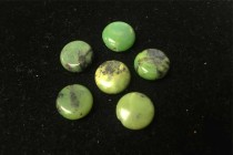 Chrysoprase, Natural, A Grade, Coin/Dime Gemstone Beads