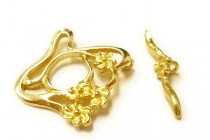 Brass Toggle Clasp - Floral Freeform - JBB Findings