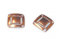 Copper Over Brass 4 Hole Square Link