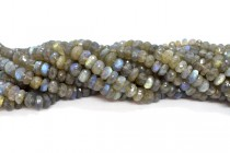 Labradorite (Natural) Faceted Rondelle Gemstone Beads 6-7mm