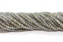 Labradorite (Natural) Faceted Rondelle Gemstone Beads 3mm x 2.5mm