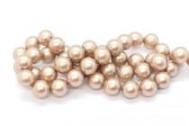 Crystal Powder Almond - Swarovski Round Pearls 5810 - Factory Pack Quantity