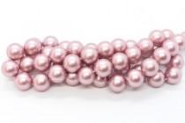 Crystal Powder Rose - Swarovski Round Pearls 5810/5811