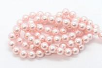 Crystal Rosaline - Swarovski Round Pearls 5810/5811