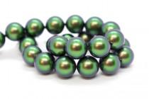 Crystal Scarabaeus Green - Swarovski Round Pearls 5810 - Factory Pack Quantity