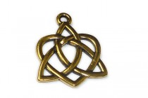 Antique Gold Plated Large Celtic Heart Pendant - TierraCast®