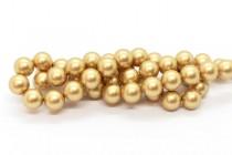 Crystal Vintage Gold - Swarovski Round Pearls 5810