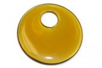 Amber Glass  Go Go Donut Pendant