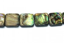 Abalone / Pawa Shell And Resin (Assembled), Flat Square Beads